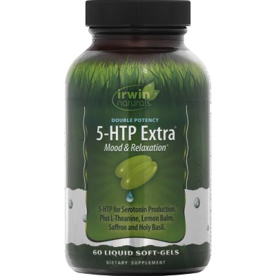 irwin naturals Double Potency 5-HTP Extra Dietary Supplement Liquid Softgels - 60ct