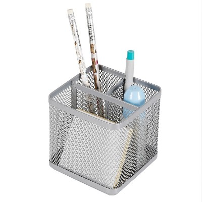 Mesh Pencil Holder Silver - Made By Design™