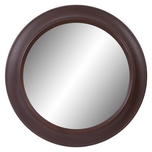 "30""x30"" Bronze Woodgrain Round Decorative Wall Mirror Bronze - Patton Wall Decor - image 1 of 5"