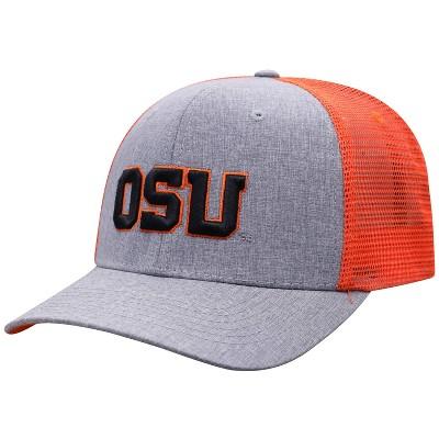 NCAA Oregon State Beavers Men's Gray Chambray with Hard Mesh Snapback Hat
