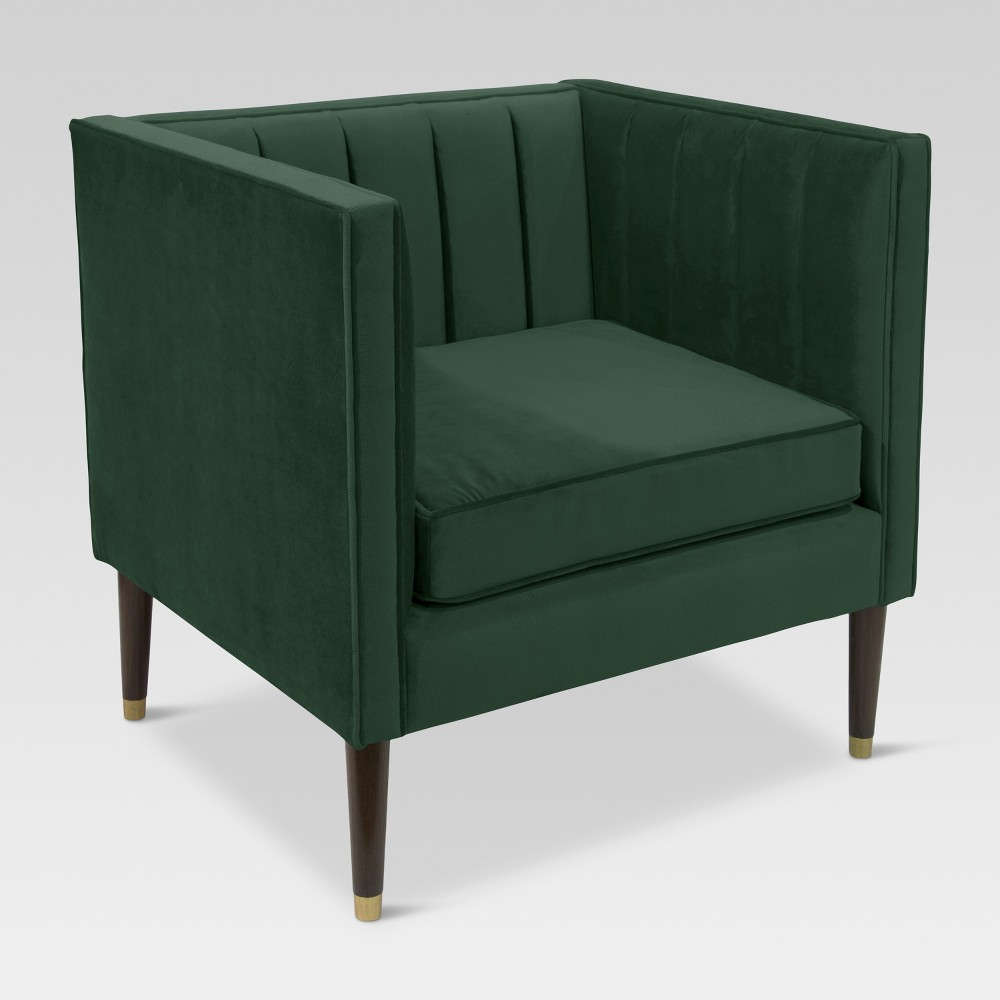 Channel Tufted Arm Chair - Mystere Jade - Project 62