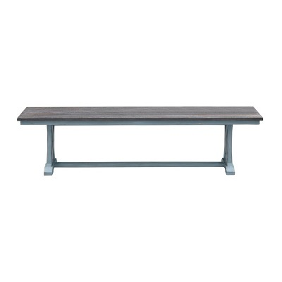 Skye Dining Bench Blue - Treasure Trove Accents