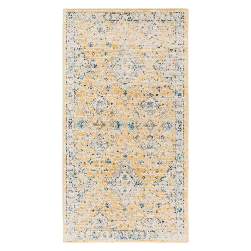 22X4 Medallion Accent Rug Gold/Ivory - Safavieh Discounts