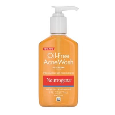 Neutrogena Oil-Free Salicylic Acid Acne Fighting Face Wash - 6 fl oz