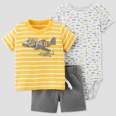 Baby Boys' 3pc Daddy's Copilot Set - Just One You® made by carter's Yellow 9M