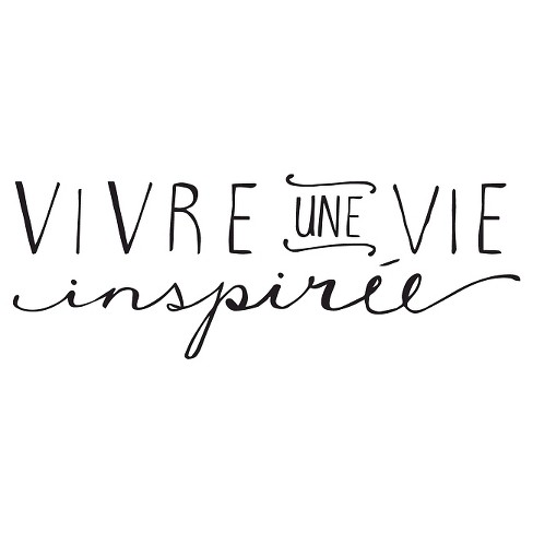 Une vie inspirée Wall Decal - Black - image 1 of 2