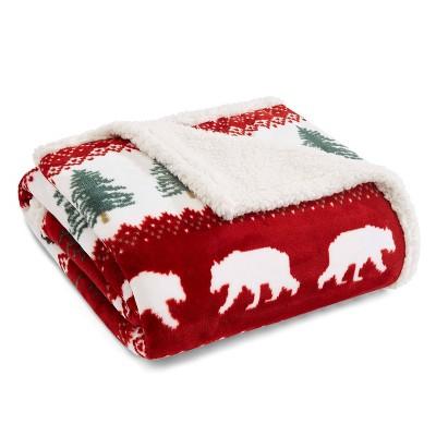 Grizzly Peak Throw Blanket Red - Eddie Bauer
