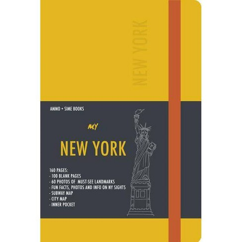New York Visual Notebook: Yellow Saffron - (Paperback)