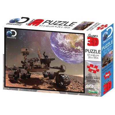 The Zoofy Group LLC Discovery Channel Mars Rover Super 3D 500 Piece Jigsaw Puzzle