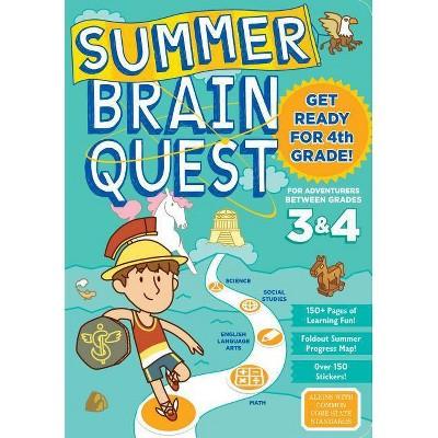 Summer Brain Quest : Between Grades 3 & 4 (Paperback) - by Persephone Walker