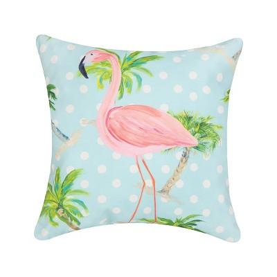 "C&F Home 18"" x 18"" Palm Beach Flamingo Indoor/Outdoor Decorative Throw Pillow"