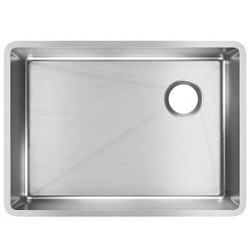 "Elkay Crosstown 25.5"" Rectangular Undermount Single Bowl Kitchen Sink, Silver"