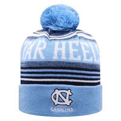 NCAA North Carolina Tar Heels Men's Rupture Knit Cuffed Beanie with Pom