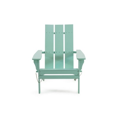 Zuma Acacia Wood Contemporary Foldable Adirondack Chairs - Light Mint - Christopher Knight Home