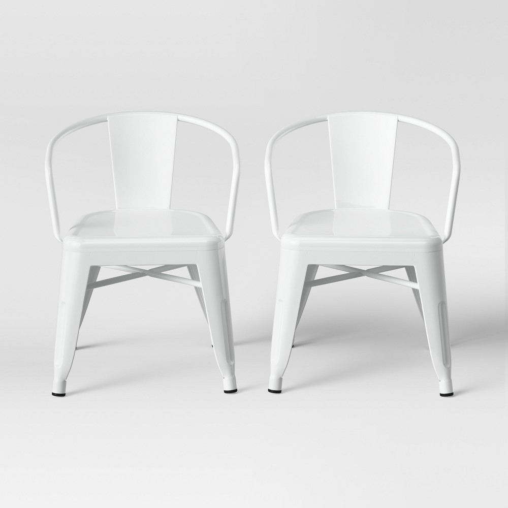 Set of 2 Kids Industrial Activity Chair White - Pillowfort