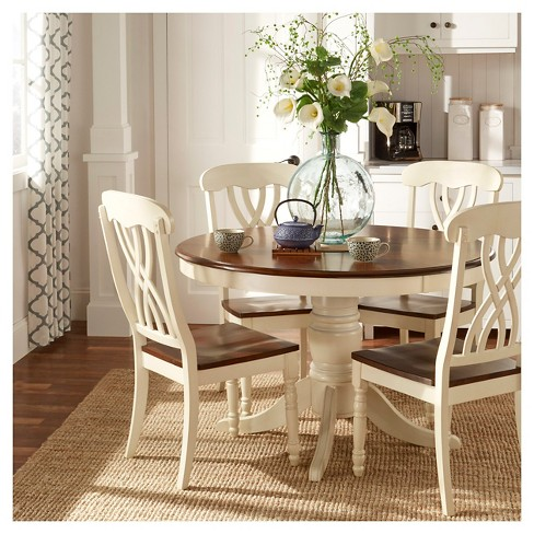 5pc Countryside Round Table Set Antique White Inspire Q Target