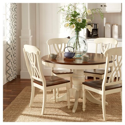 Delicieux 5pc Countryside Round Table Set Antique White   Inspire Q : Target