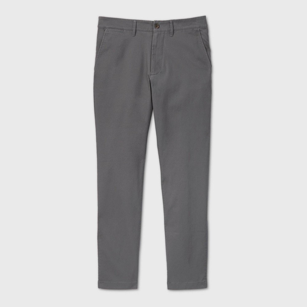 Men 39 S Athletic Fit Chino Pants Goodfellow 38 Co 8482 Thundering Gray 33x30
