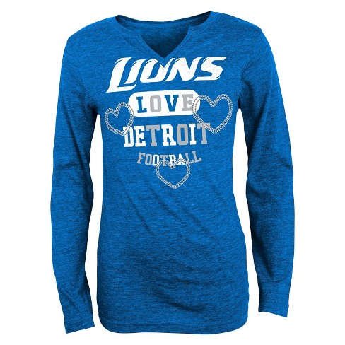 Detroit Lions Girls V-Neck T-Shirt - image 1 of 1