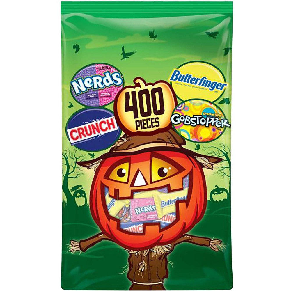 Butterfinger, Gobstopper, Crunch, Nerds Halloween Chocolate and Candy Variety Bag - 117.7oz / 400ct