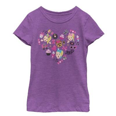 Girl's Jojo Siwa Heart Icons T-Shirt