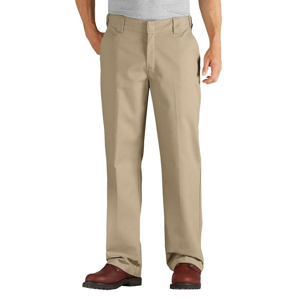 Dickies Men's Relaxed Straight Fit Comfort Waist Flex Twill Pants- Desert Sand 34x32