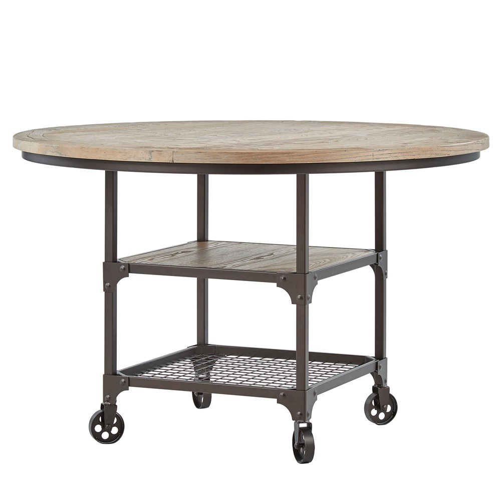 Nora Industrial Round Dining Table Bronze - Inspire Q