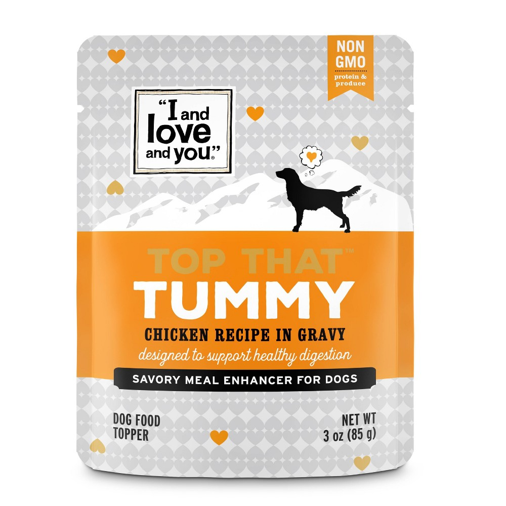 I and Love and You Top That Wet Dog Food Topper Tummy Chicken Recipe In Gravy - 3oz