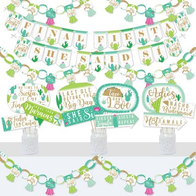 Big Dot of Happiness Final Fiesta - Banner and Photo Booth Decorations - Last Fiesta Bachelorette Party Supplies Kit - Doterrific Bundle