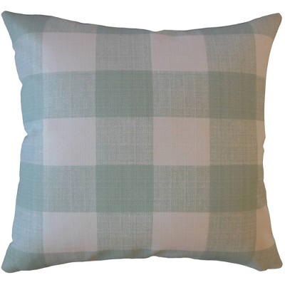 Plaid Square Throw Pillow Beach Blue - Pillow Collection