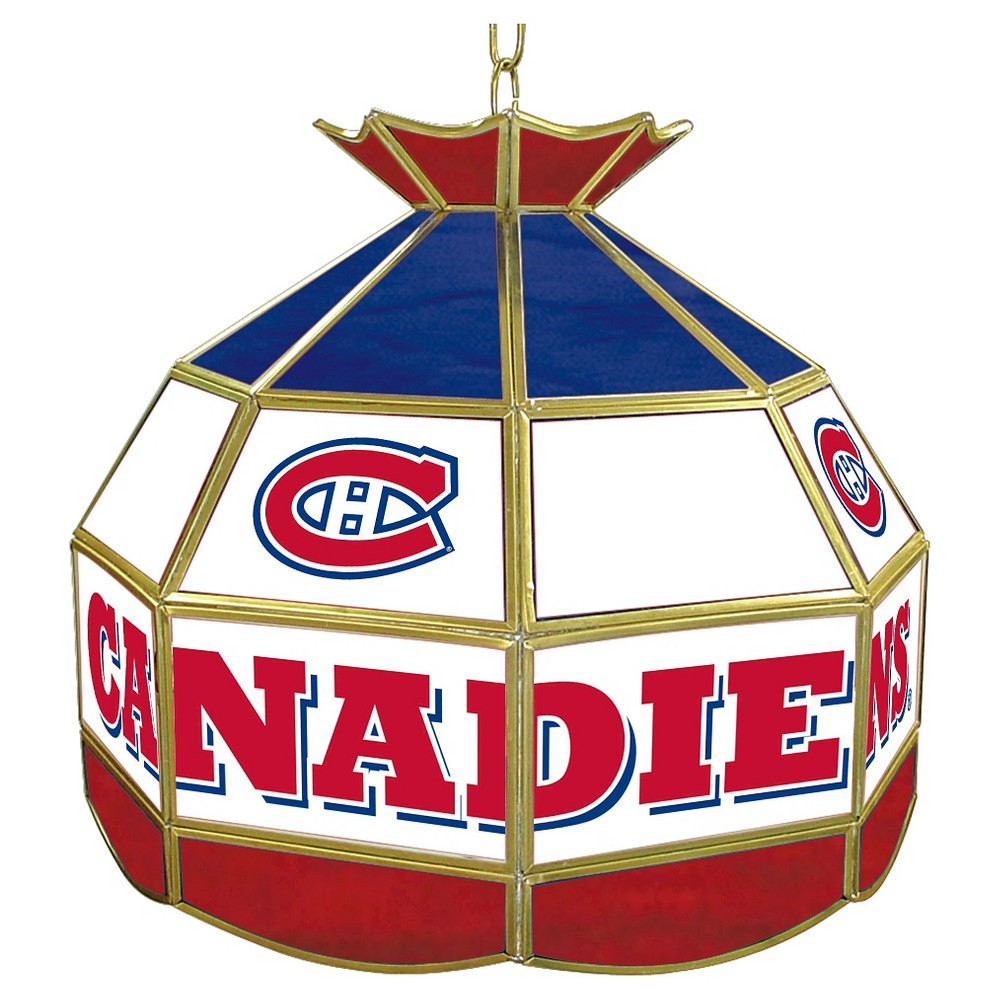 Montreal Canadiens Stained Glass Tiffany Lamp - 16 inch