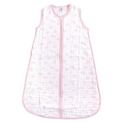 Yoga Sprout Baby Girl Sleeveless Muslin Cotton Sleeping Bag, Sack, Blanket, Pink Sky