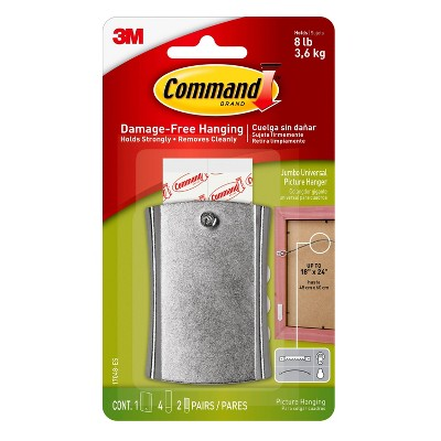 Command Jumbo Universal Picture Hanger White