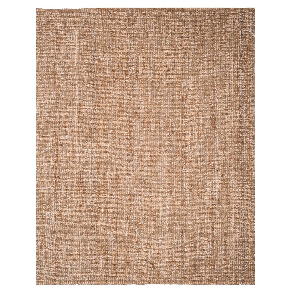 Natural/Ivory Solid Woven Area Rug 8'X10' - Safavieh