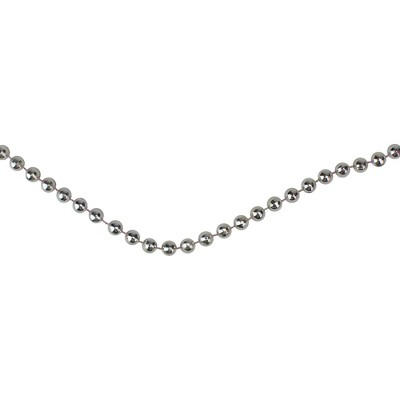 Northlight 66' x 4mm Metallic Silver Beaded Artificial Christmas Garland - Unlit