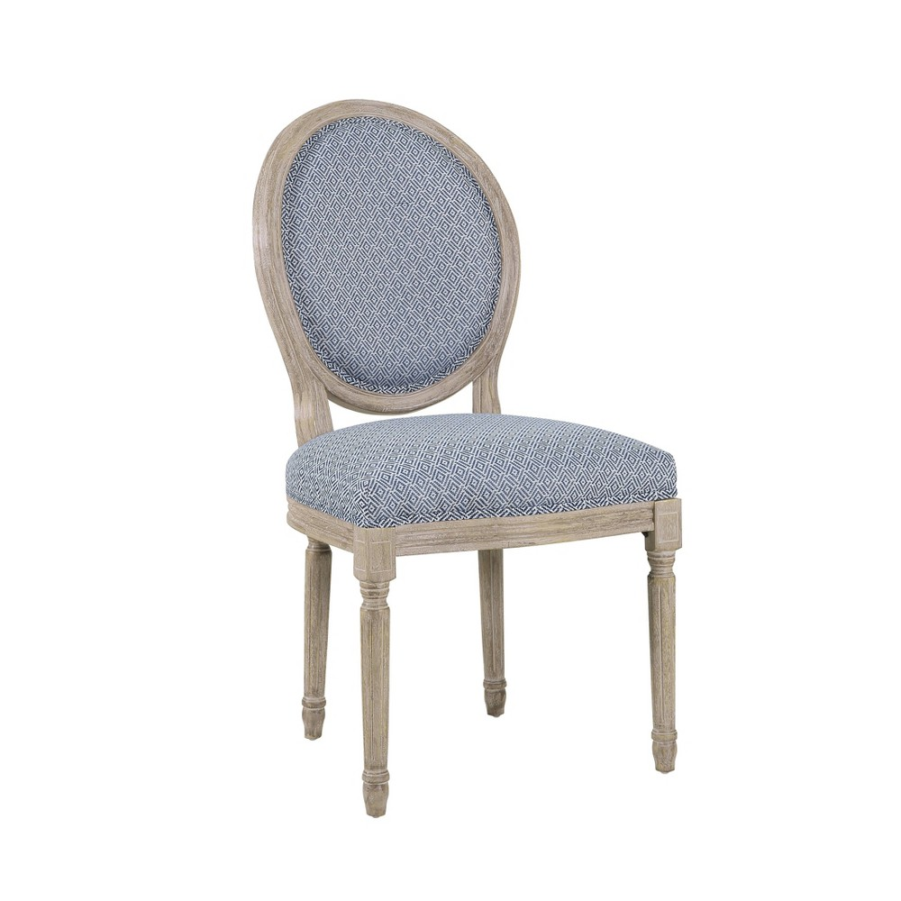 Louis Round Back Chair Diamond Blue - HomePop was $189.99 now $142.49 (25.0% off)