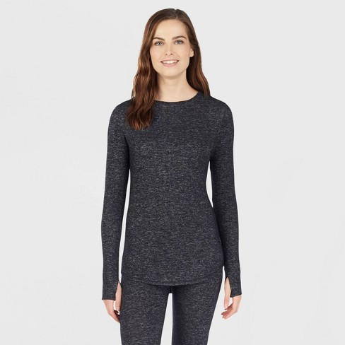 Warm Essentials® by Cuddl Duds® Women's Sweater Knit Crew Neck Thermal Top - image 1 of 3