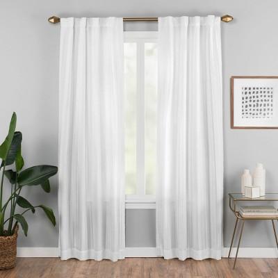 42 x63  Vaughan Fashion Curtain White - Vue Elements