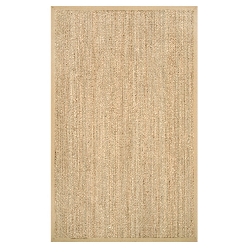 nuLOOM Seagrass Elijah Seagrass with Border Area Rug - Beige (9'x12')