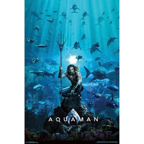 "34""x23"" Aquaman One Sheet Unframed Wall Poster Print - Trends International - image 1 of 2"