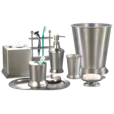 Rosemont Metal Bath Accessory Set for Vanity Counter Tops Gray - Nu Steel