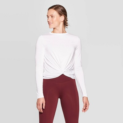 Women's Twist Front Long Sleeve T Shirt   Joy Lab by Shirt