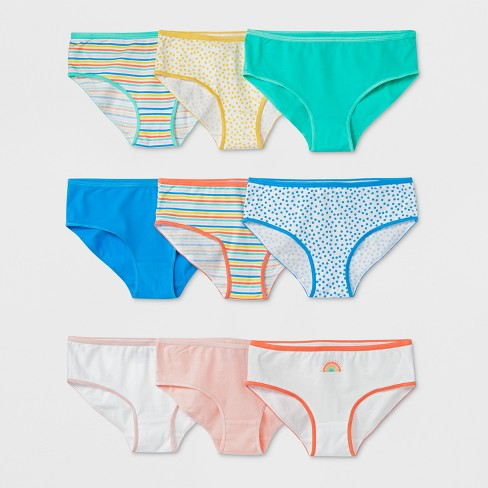 Girls' 9pk Hipster Briefs - Cat & Jack™ Blue - image 1 of 1
