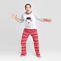 "Men's Holiday ""Papa"" Bear Pajama Set - Wondershop™ Gray"