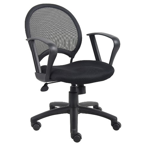 Mesh Chair With Loop Arms Black - Boss Office Products - image 1 of 3