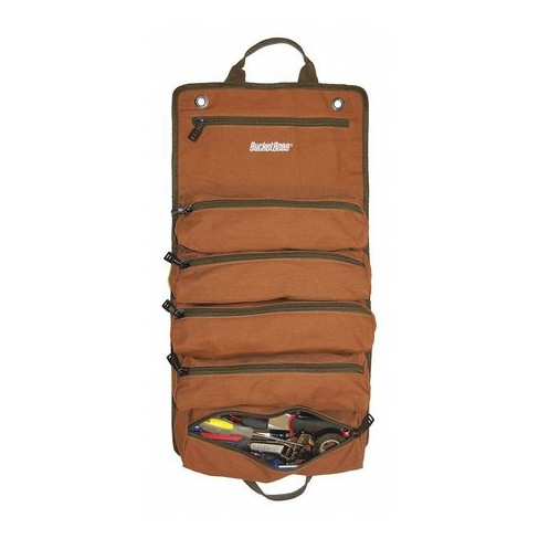 """BUCKET BOSS 74004 Tool Holster,Brown/Green,6 Pockets,4"""" W - image 1 of 1"""