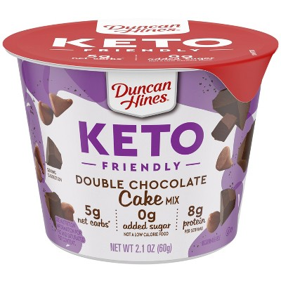 Duncan Hines Keto Friendly Double Chocolate Cake Cup - 2.1oz