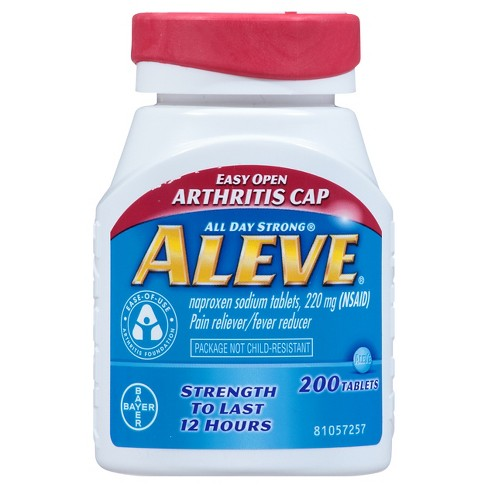 Aleve Easy Open Arthritis Cap Pain Reliever & Fever Reducer Tablets - Naproxen Sodium (NSAID) - 200ct - image 1 of 4