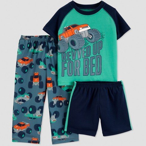 3efe83038 Baby Boys  3pc Monster Truck Pajama Set - Just One You® Made By ...