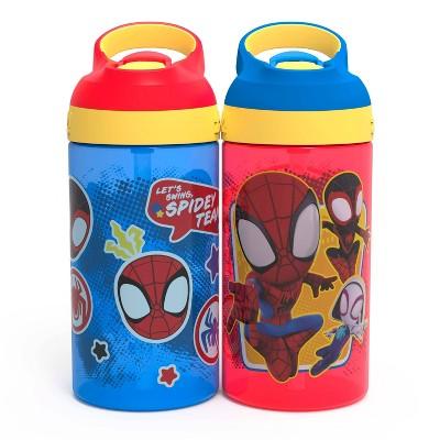 Spider-Man 16oz 2pk Plastic Atlantic Kids Water Bottle - Zak Designs